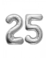 25 jaar zilveren huwelijk folie ballonnen