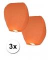 Oranje wens lantaarn ballonnen 3 stuks