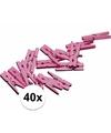 40 geboorte versiering knijpertjes roze