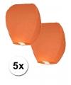 Oranje wens lantaarn ballonnen 5 stuks