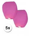 Roze wens lantaarn ballonnen 5 stuks