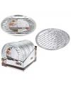 Aluminium barbecue grillschalen rond 3 stuks