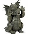Kunststof beeld draak gekke bek 26 cm