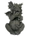 Kunststof beeld lachende draak 30 cm