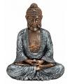 Polystone beeldje Boeddha 23 cm