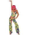 Gekleurde dames seventies kleding
