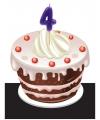 Cijfer kaarsen 4 jaar