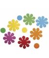 Knutsel rubberen bloemen zelfklevend 40 stuks