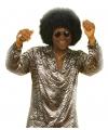Disco shirt zilver voor heren