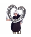Selfie foto frame hart zilver  80 x 75 cm