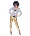 Gouden glitter legging