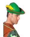 Peter Pan hoedje met gele veer