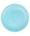 Lichtblauwe kartonnen borden 29 cm