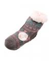 Wintersokken grijs/roze voor kinderen