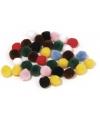 Decoratieve pompons 7mm kleurenassorti