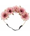 Luxe Ibiza stijl haarband roze