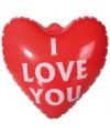 Opblaashart I Love You 22 cm