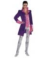 Dames verkleedjas in paarse kleur