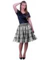 Zilveren 5-laags petticoat