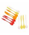 Verschillende kleuren plastic eierlepels 12st
