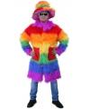 Pluche pooier jas met regenboogprint