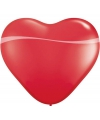 Grote hartjes ballon rood