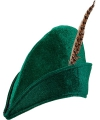 Groene Robin Hood hoed