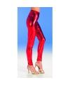 Glimmend rode legging voor dames