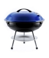 Blauwe barbecue rond