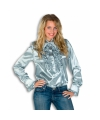 Dames overhemd zilver met rouches