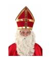 Sint Nicolaas mijter plat voor volwassenen