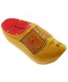 Klompen spaarpot geel rood16 cm