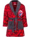 Spiderman fleece badjas rood