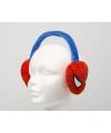Spiderman oorwarmers rood-blauw