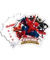 Spiderman Warriors thema uitnodigingen 6 stuks