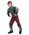 Groene superheld carnavalskleding voor kinderen
