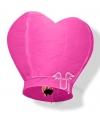 Wensballonnen in hartvorm roze 100 cm