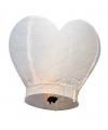 Wensballonnen in hartvorm wit 100 cm