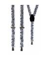Witte bretels met muzieknoten
