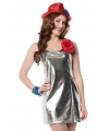 Zilveren dames jurkjes disco stijl