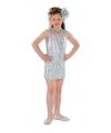 Zilveren glitter jurkje voor meisjes