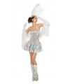 Showgirl jurkje met pailletten voor dames zilver