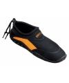 Zwart met oranje heren waterschoen