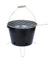 Emmer barbecue zwart op pootjes 30 cm